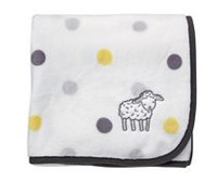 George baby Lamb Blanket with Applique