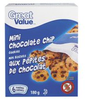 Biscuits miniatures aux pépites de chocolat de Great Value