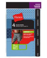 Hanes Men's Woven Tagless Boxers, Pack of 4 L