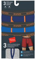 Hanes Men's Stretch Tagless Boxer Briefs, Pack of 3 M/M