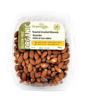 Organically Yours Gluten Free Roasted Unsalted Almonds
