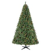 Holiday Time 7.5' Kennedy Quick Set Pine with Multicolour Lights Christmas Tree