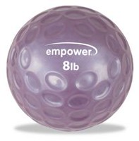 Empower 8Lb Fingertip Grip Medicine Ball with DVD