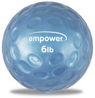 Empower 6Lb Fingertip Grip Medicine Ball with DVD