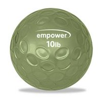 Empower 10Lb Fingertip Grip Medicine Ball with DVD