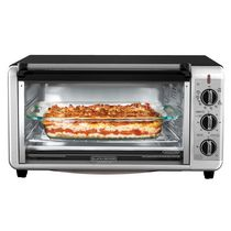 BLACK + DECKER Extra Wide Toaster Oven in Stainless Steel