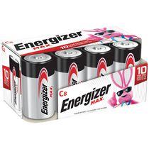 Paquet de huit piles C Energizer MAX