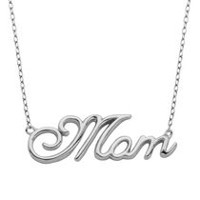 Collier « Mom » PAJ en argent sterling plaqué en rhodium