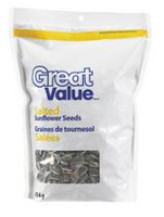 Graines de tournesol salées de Great Value
