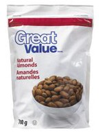 Amandes naturelles Great Value