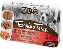Zoe Tempting Trios Beef Pâté Cuts of Chicken Wet Food for Dogs