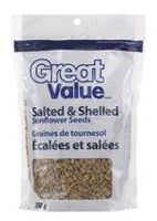 Graines de tournesol salées et en écales Great Value