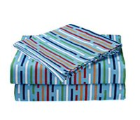 your zone junior Microfiber Printed Sheet Set Twin Blue