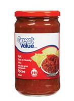 Great Value Thick'n Chunky Hot Salsa