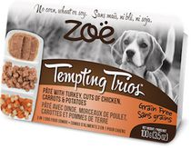 Zoe Tempting Trios Turkey Pâté Cuts of Chicken Wet Food for Dogs