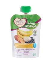 Parent's Choice Organic Banana, Sweet Potato, Blueberry & Brown Rice Baby Food Purée