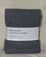 Grey Label Fleece Blanket Grey Twin